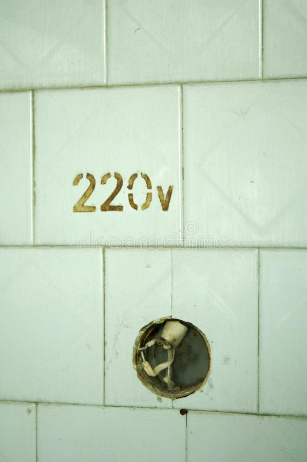 220 voltios que no trabaja fotos de archivo
