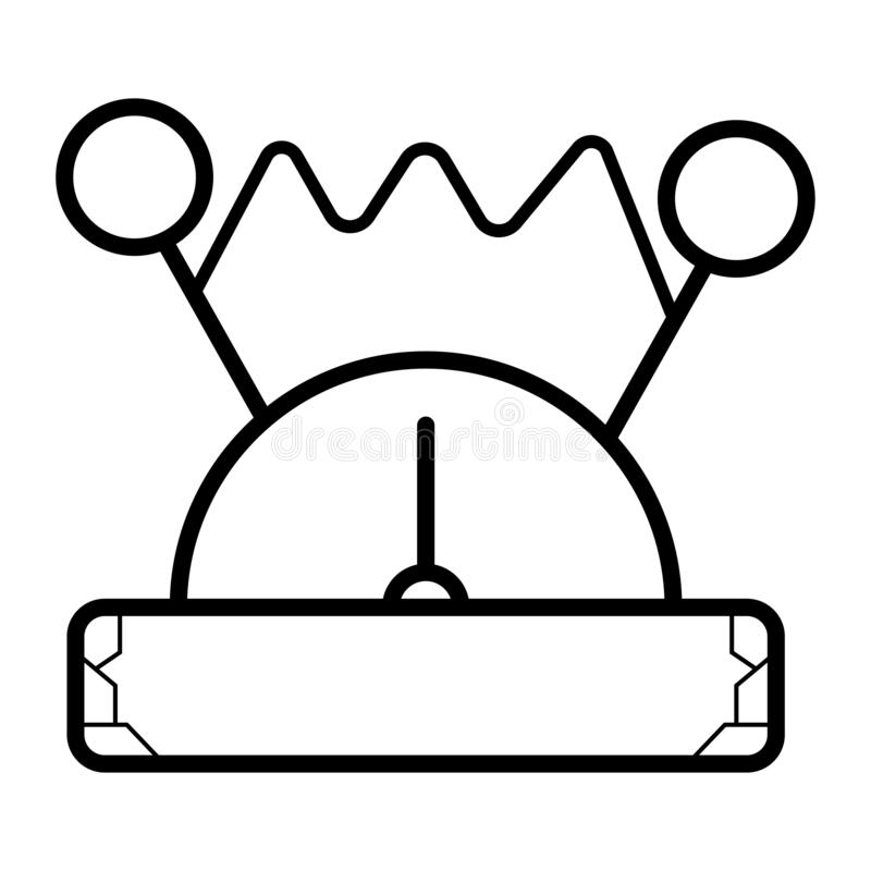 Voltmeter ikony wektor royalty ilustracja