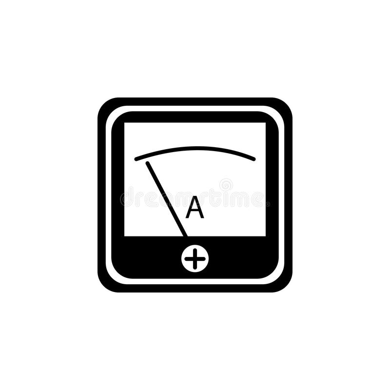 Voltmeter Indicator icon stock vector. Illustration of ampere ...