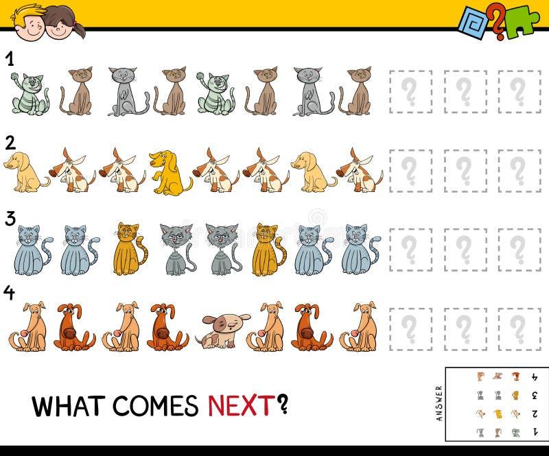 Voltooi het patroon met het spel van huisdierendieren vector illustratie