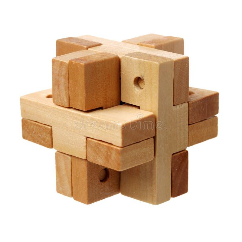 Voltooid houten raadsel stock foto's