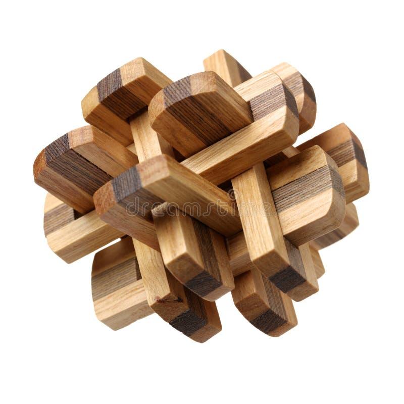 Voltooid houten raadsel stock foto