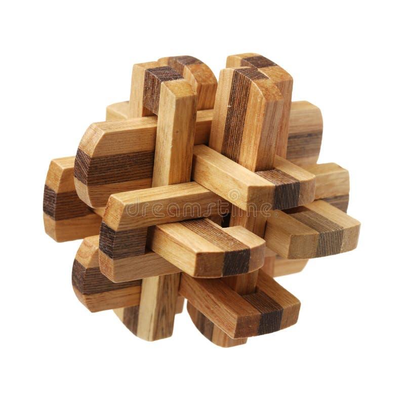 Voltooid houten raadsel stock fotografie