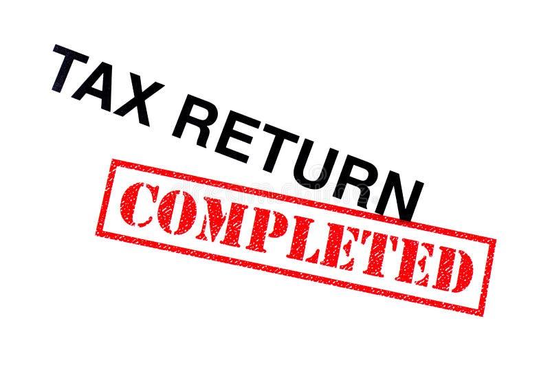 Voltooide belastingaangifte stock afbeeldingen