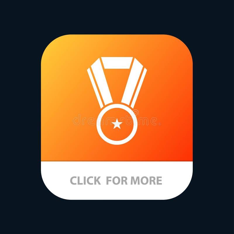 Voltooiing, Onderwijs, de Knoop van de Medaillemobiele toepassing Android en IOS Glyph Versie vector illustratie