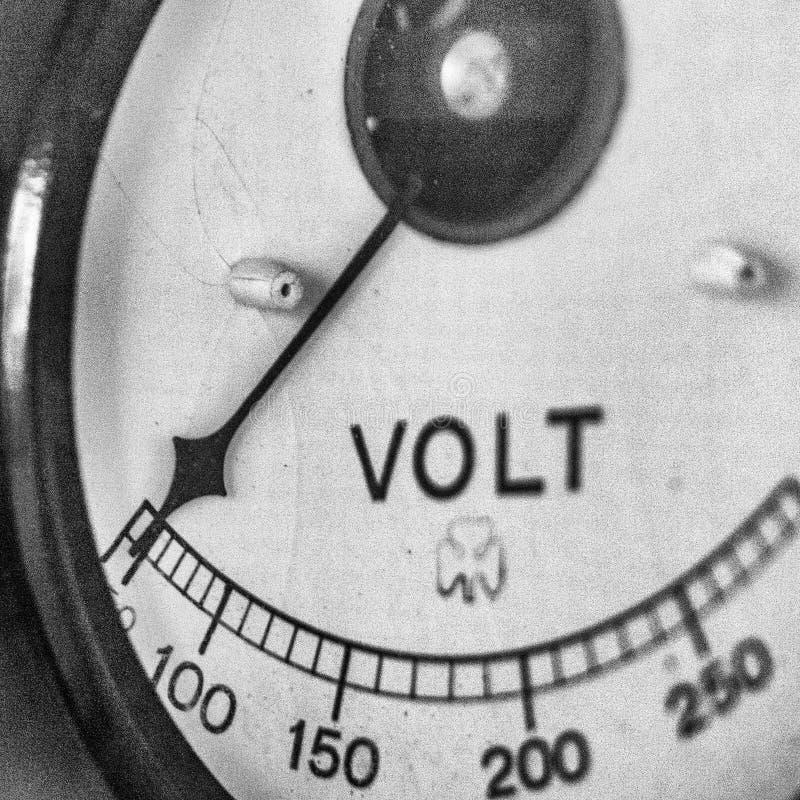 Volträknare som markerar noll drain Bakgrund arkivbild
