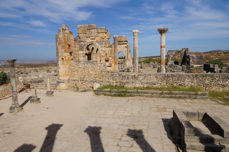 Volubilis - archaeological site on UNESCO World Heritage List royalty free stock photography