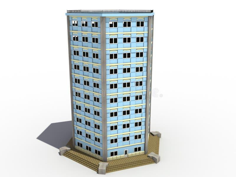 Volumétrico a construção que desenha â7 ilustração do vetor
