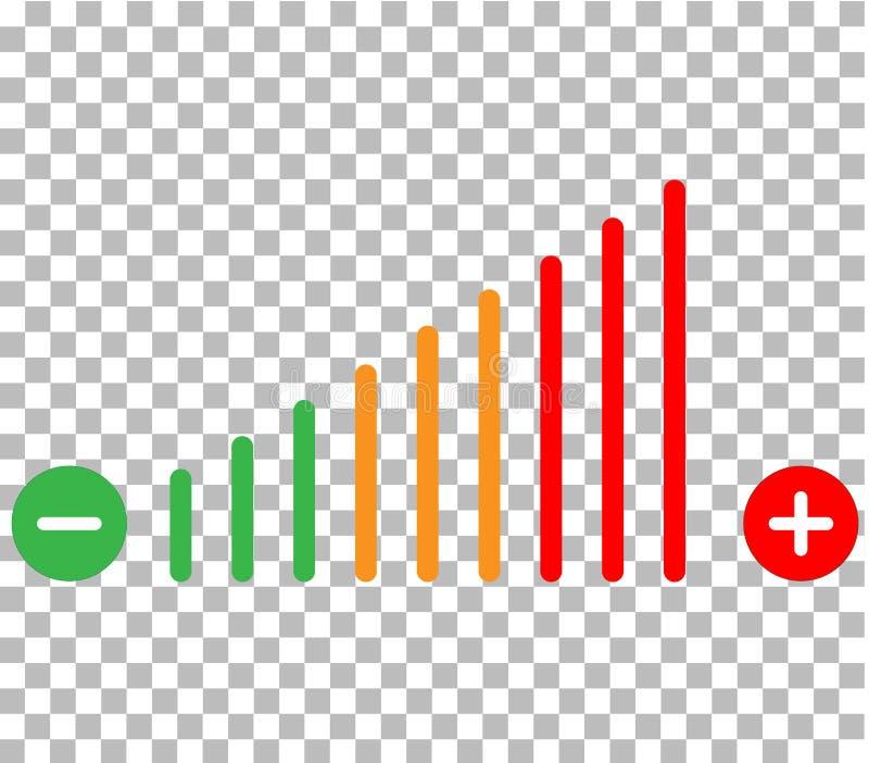 Volume adjustment icon. volume adjustment on transparent background. volume adjustment color sign. stock illustration