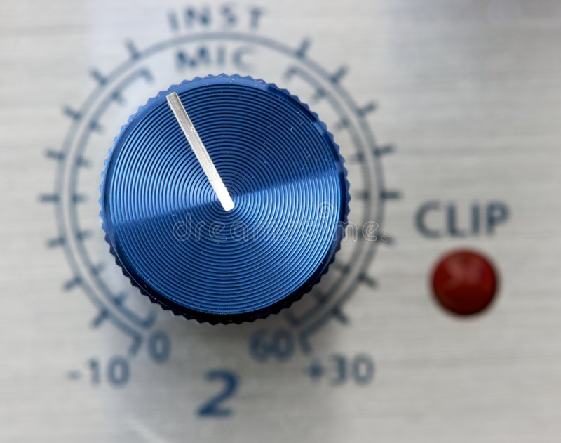 Volume adjustment knob. With low depth of field royalty free stock photos