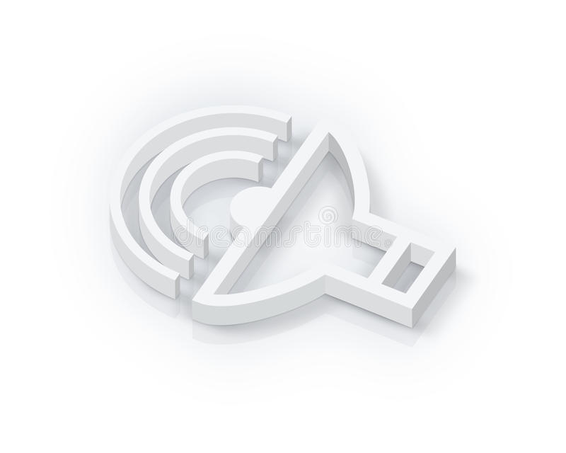 volume blanc de symbole illustration de vecteur