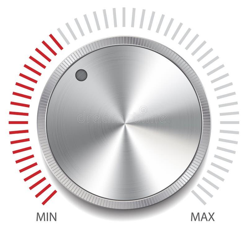 Volume Control Button : Volume button knob vector illustration stock