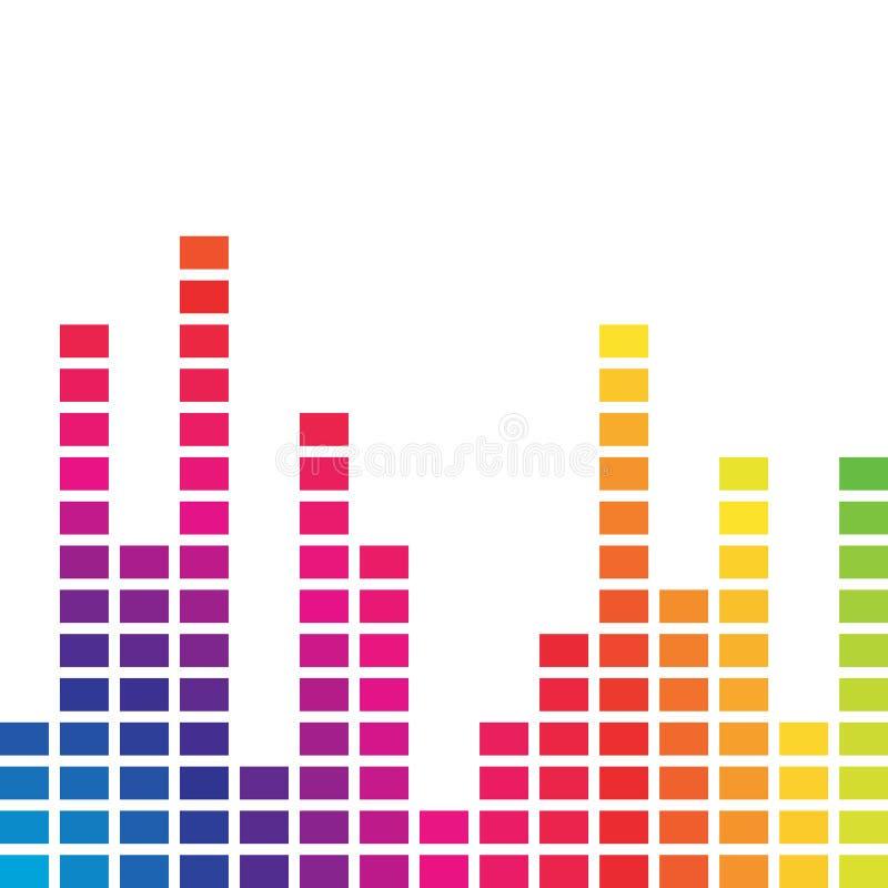 Volume colorido da música ilustração royalty free