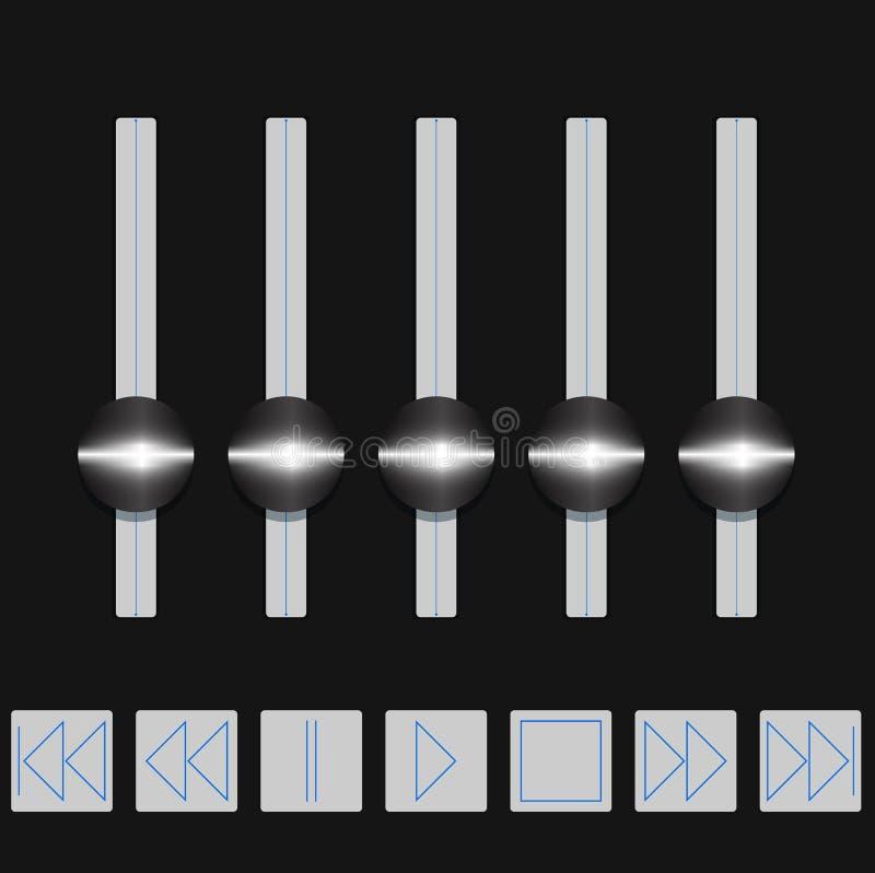 Download Volume control. stock vector. Image of control, design - 24162491