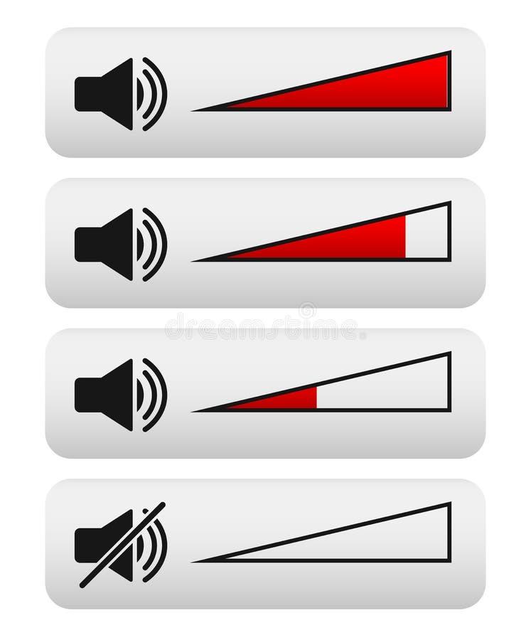 Volume control, Digital Volume knobs royalty free illustration