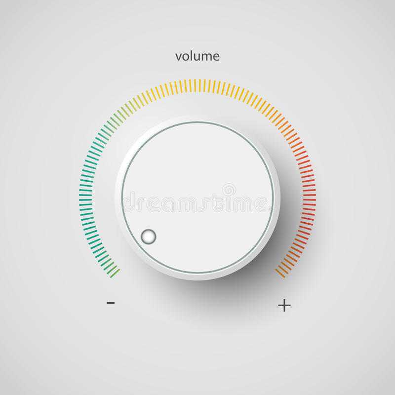 Volume Control Button : Volume control stock vector illustration of modern mood