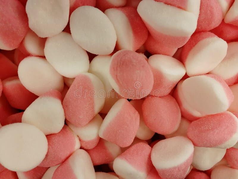 Volume cor-de-rosa branco do jujuba imagens de stock royalty free