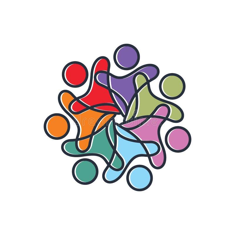Volume del sociale 3 illustrazione vettoriale