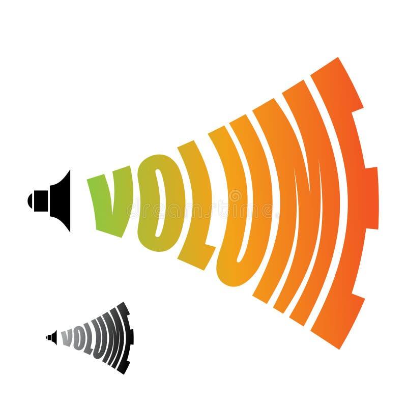 volume Geluidsniveau Veranderend luidheidsniveau van audio stock illustratie