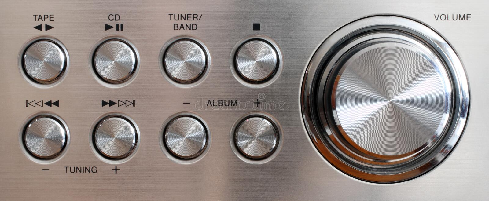 Download Volume Handle And Control Buttons Stock Photo - Image: 4623654
