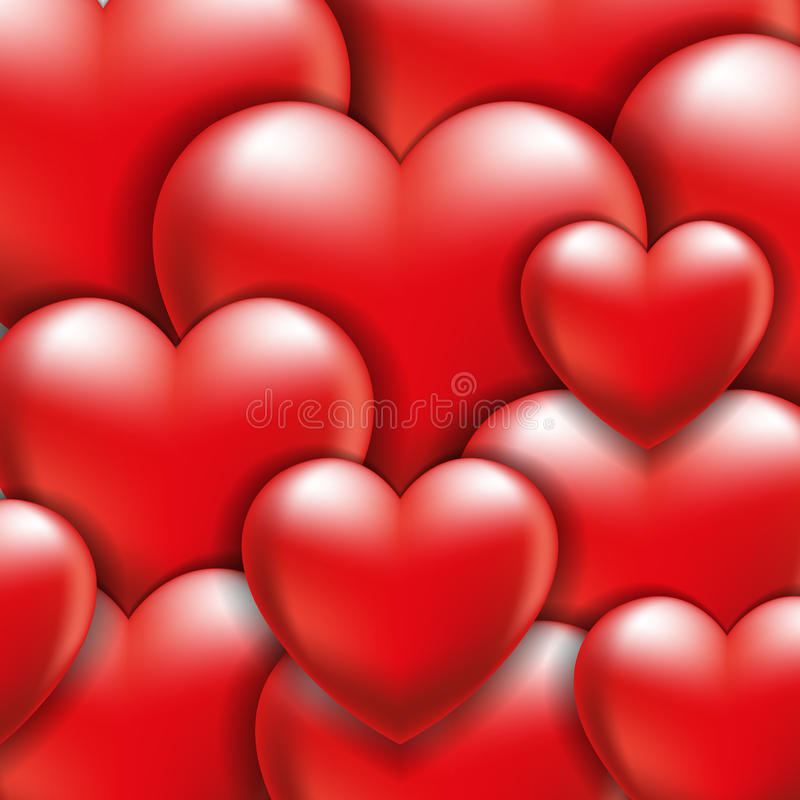Download Volume hearts stock vector. Illustration of paper, white - 41113855
