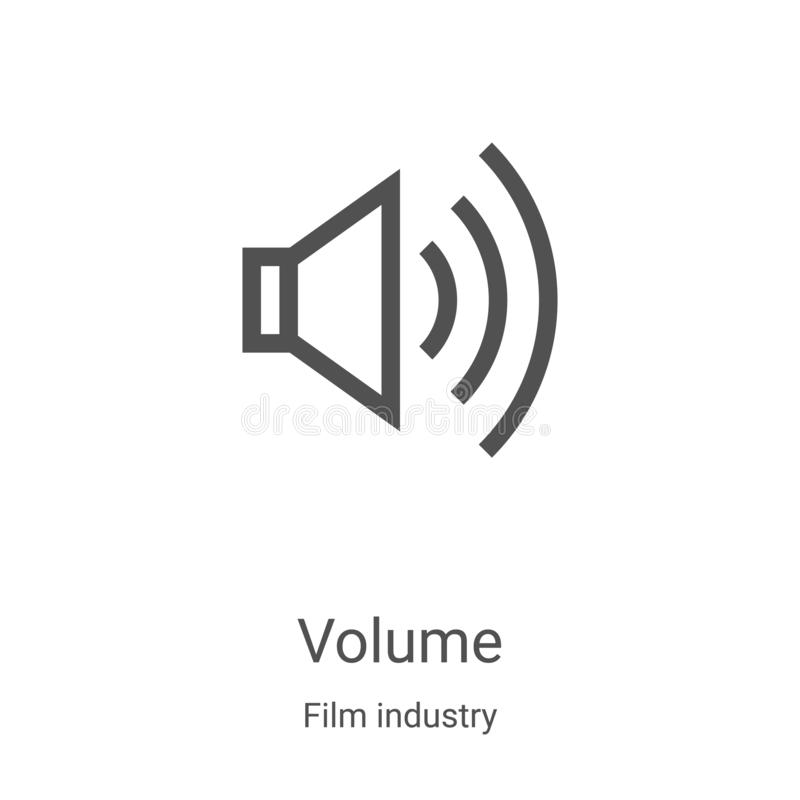 volume icon vector from film industry collection. Thin line volume outline icon vector illustration. Linear symbol for use on web stock illustration