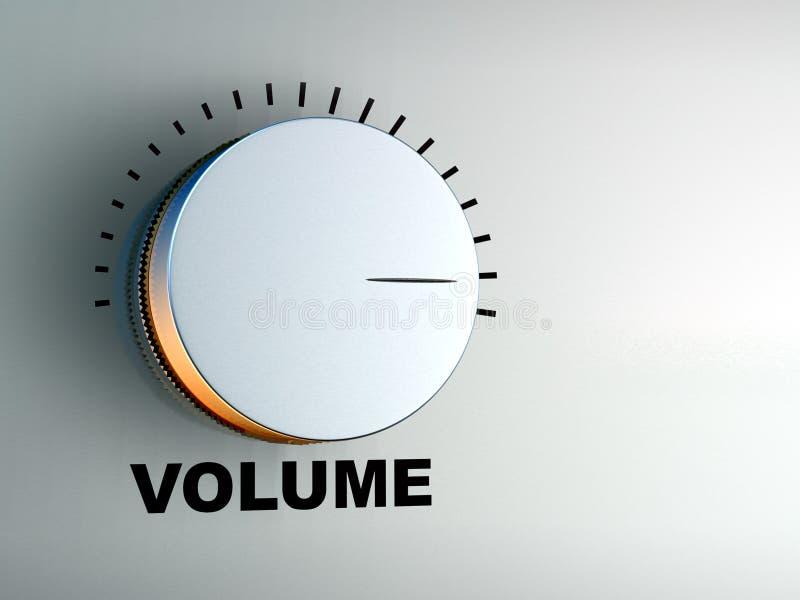 Volume knob. On an hi-fi audio amplifier. Digital illustration vector illustration