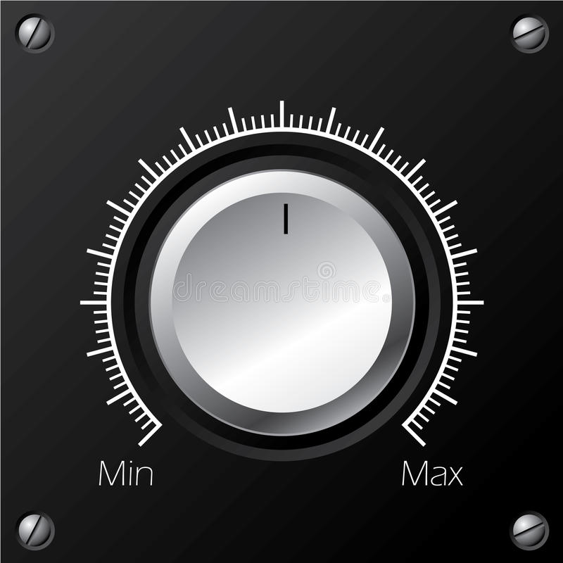 Download Volume Knob With Calibration Stock Photo - Image: 13160870