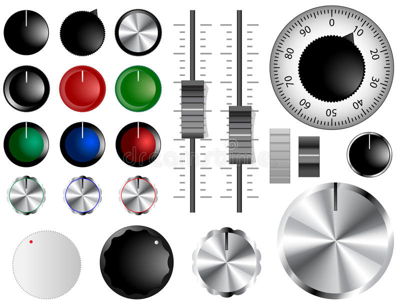 Volume knobs vector illustration