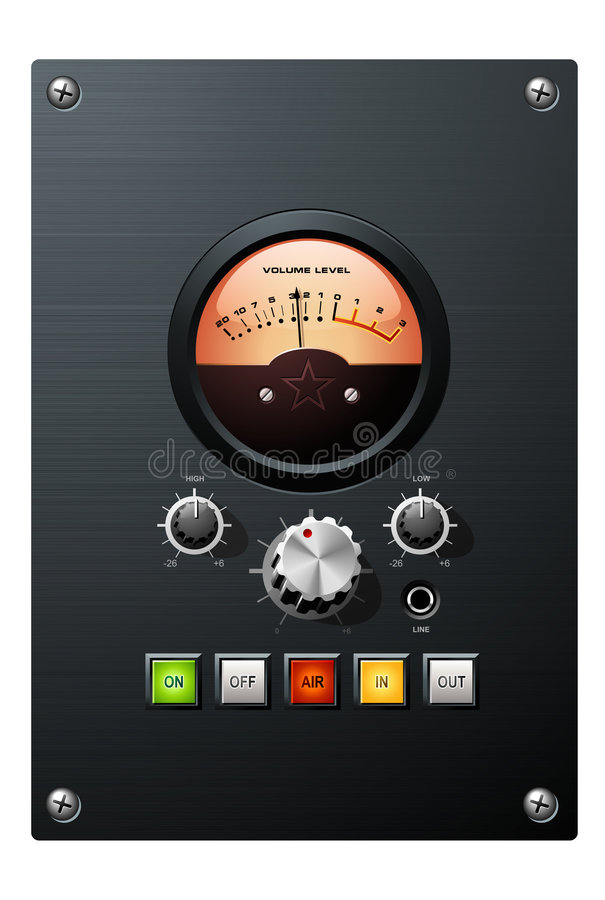 Volume Meter Royalty Free Stock Photography