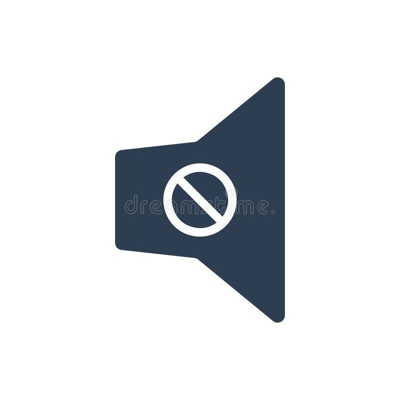 Volume mute icon. Simple illustration of Volume mute icon royalty free illustration