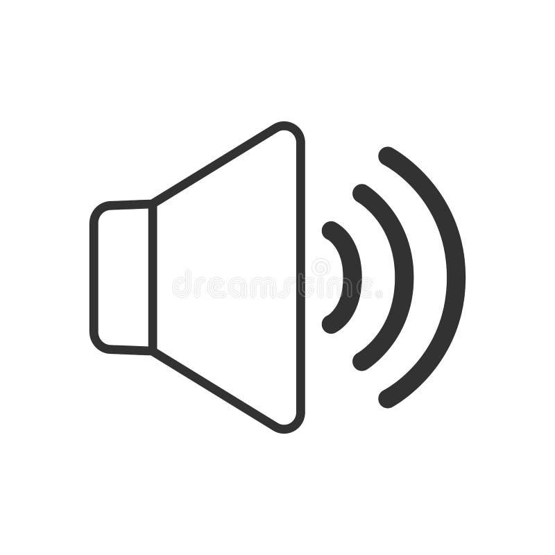 Volume over het Vlakke Pictogram van het Muziekoverzicht op Wit vector illustratie