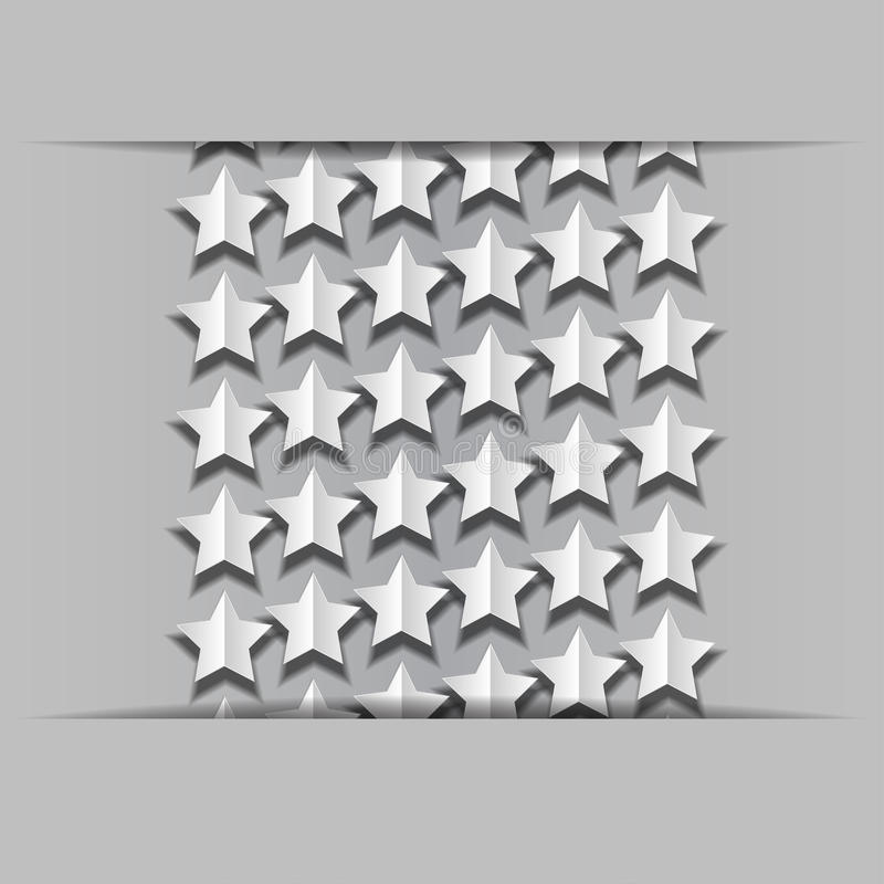Download Volume paper stars stock illustration. Image of gray - 32146642