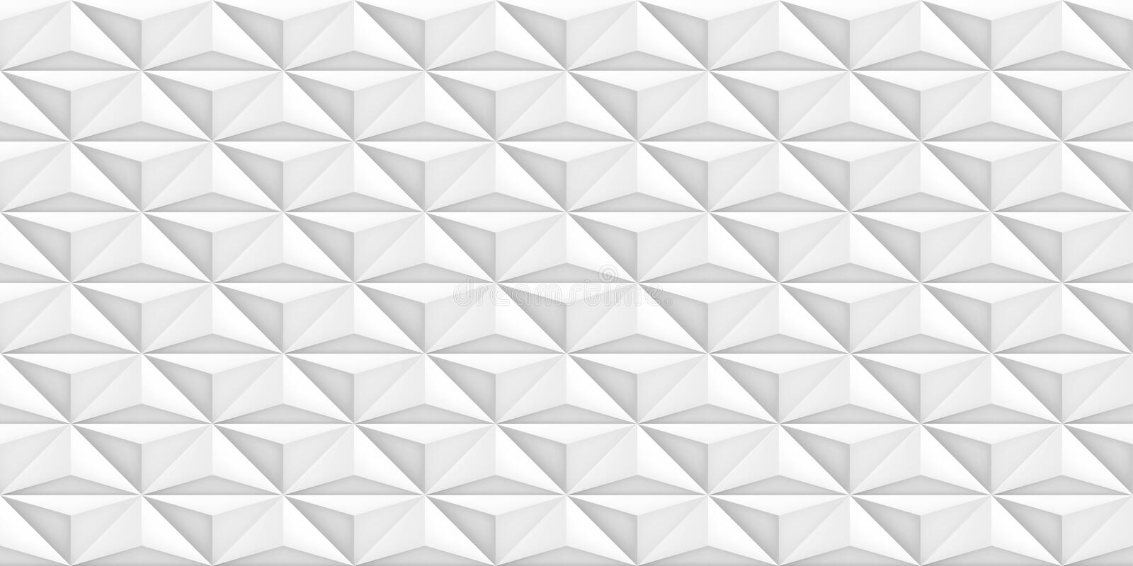 Volume realistic vector light texture, geometric seamless tiles pattern, design white background for you projects royalty free illustration
