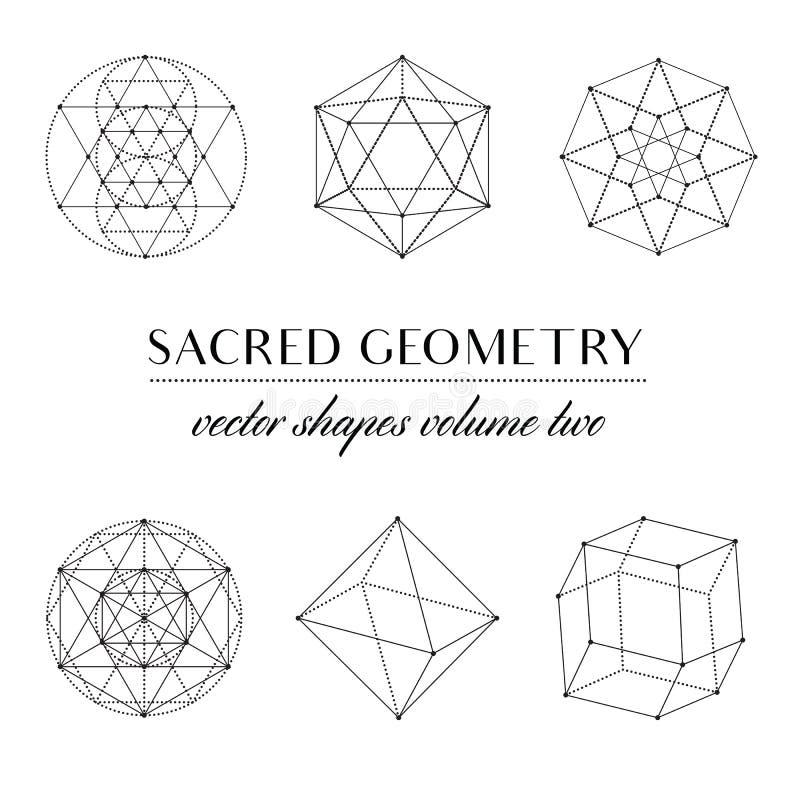 Volume sagrado dois da geometria ilustração do vetor
