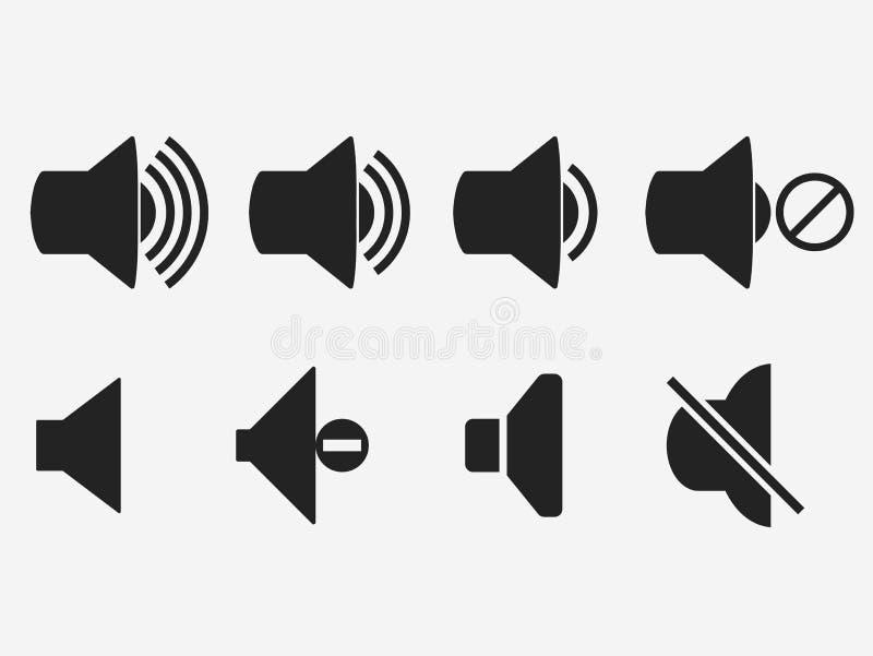 Volume sain, ic?ne de m?gaphone de musique de bouton, vecteur illustration stock