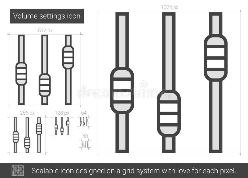 Volume settings line icon. vector illustration