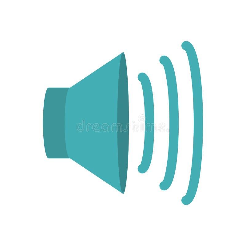volume speaker icon stock vector illustration of white