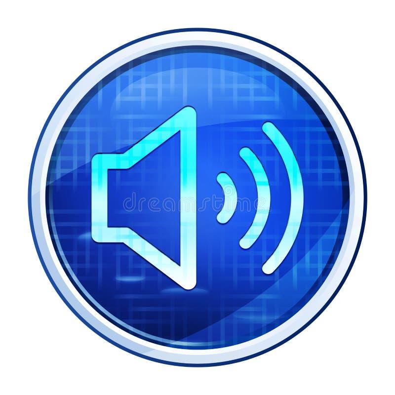 Volume speaker icon futuristic blue round button vector illustration stock illustration