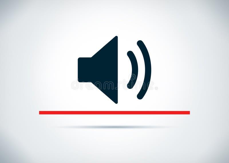 Volume speaker icon abstract flat background design illustration royalty free illustration