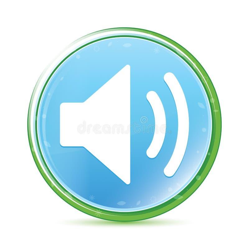 Volume speaker icon natural aqua cyan blue round button stock illustration