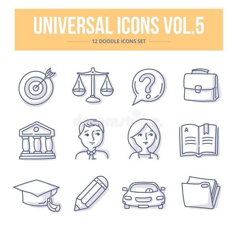 Volume universale delle icone di scarabocchio 5 illustrazione vettoriale