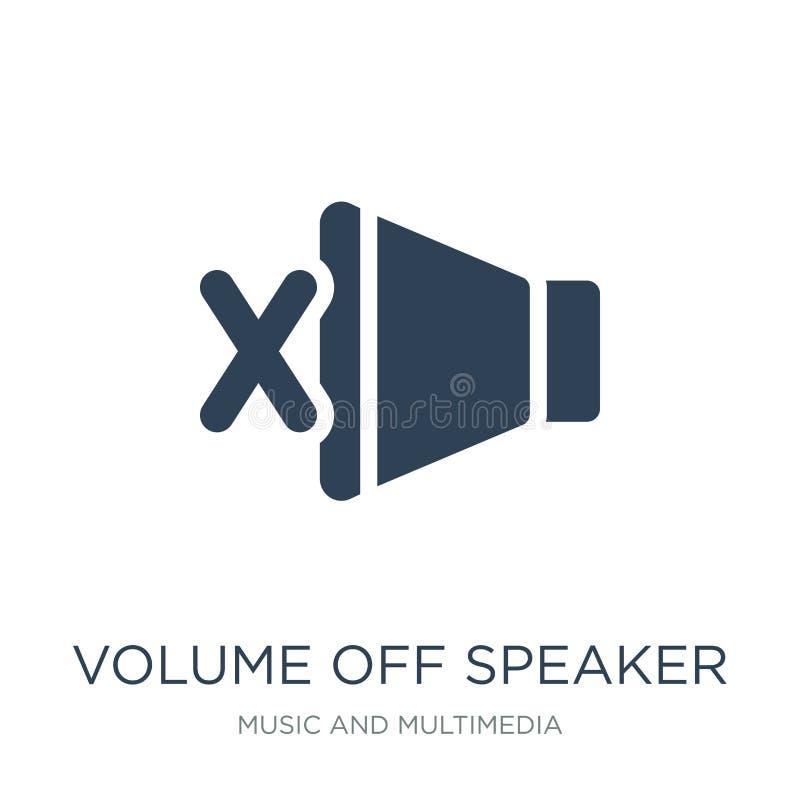 volume van sprekerspictogram in in ontwerpstijl volume van sprekerspictogram op witte achtergrond wordt geïsoleerd die volume van royalty-vrije illustratie