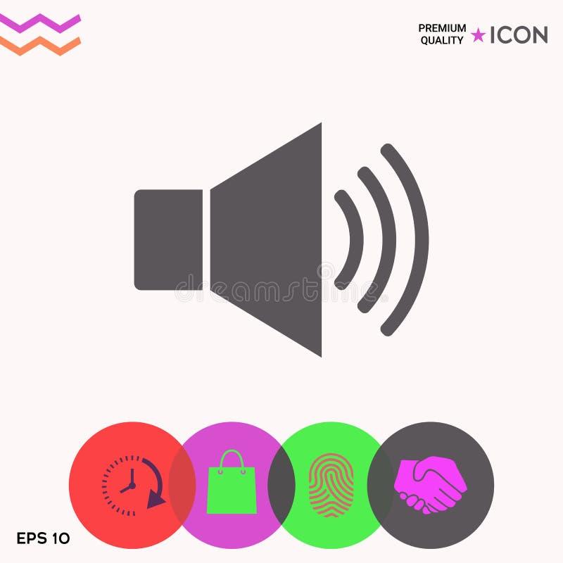 Volume web symbol icon vector illustration