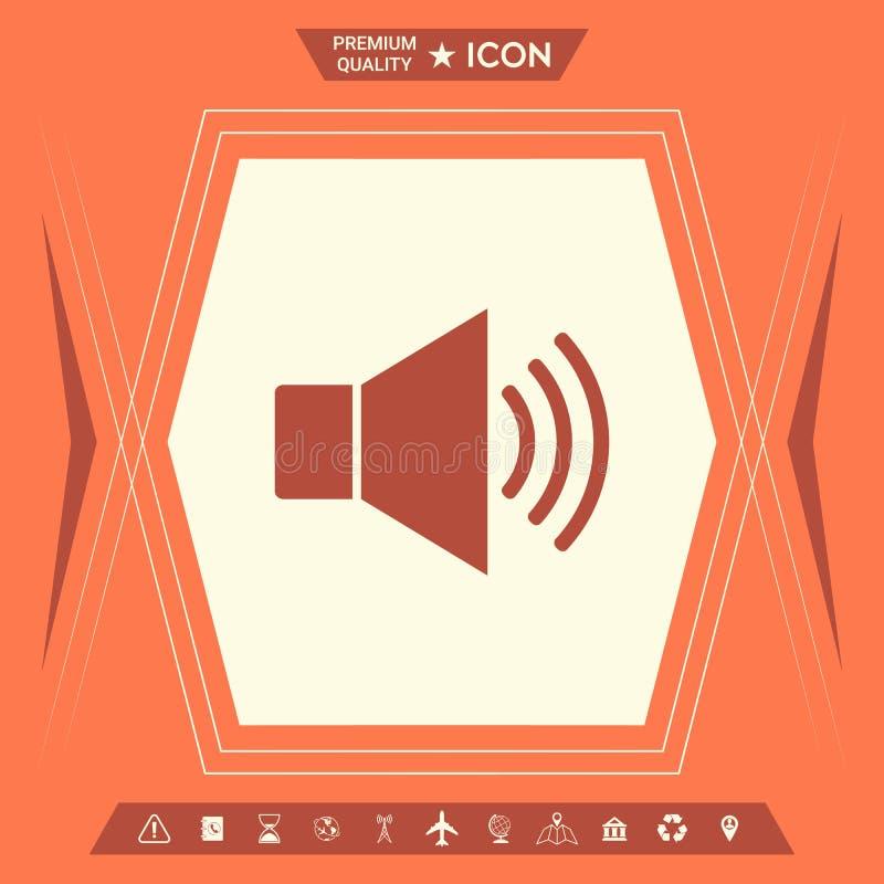 Volume web symbol icon stock illustration
