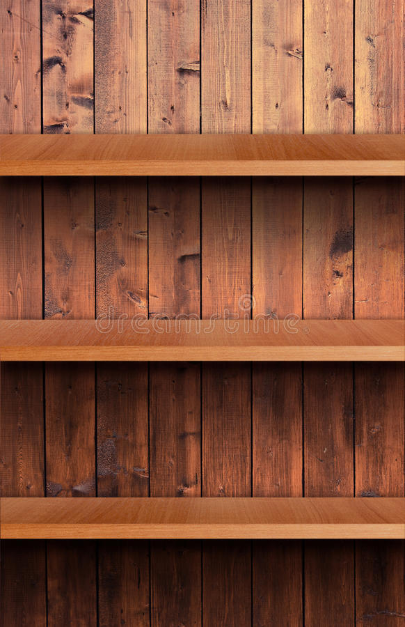 Volume Wooden Shelf Royalty Free Stock Photo
