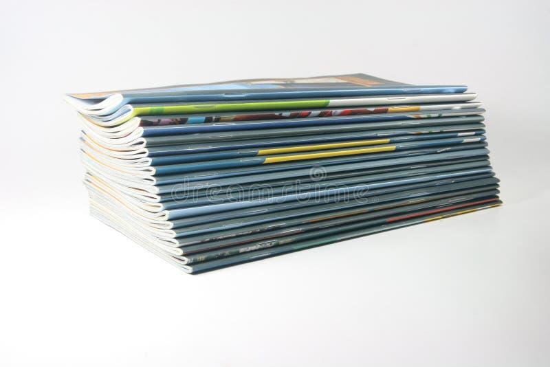 Volumes de revues photo libre de droits