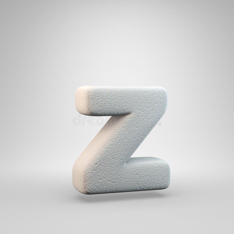 Volumetric construction foam lowercase letter Z isolated on white background vector illustration