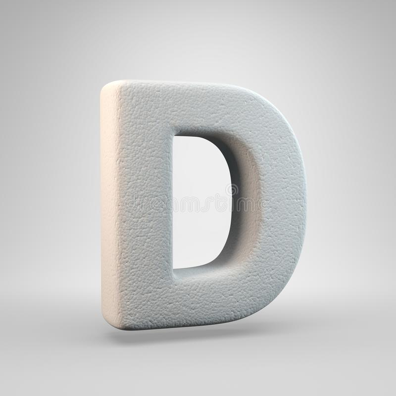 Volumetric construction foam uppercase letter D isolated on white background. 3D rendered alphabet. Modern font for banner, poster, cover, logo design template royalty free illustration