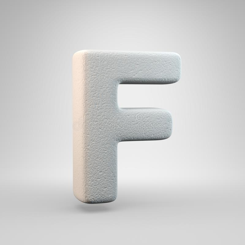 Volumetric construction foam uppercase letter F isolated on white background stock illustration